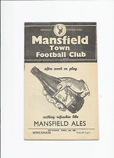 Mansfield Town v Wrexham 6 April 1957