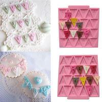 Triangle Flag Silicone Mold Mould Sugar Candy Fondant Mat Cake Decor DIY Craft