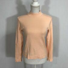 Kate Hill Women Mock Neck Top Sweater Blouse Size Petite Small Peach - C166