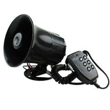 12V Loud Horn Siren Alarm Car Auto Truck Motorcycle 6 Sounds Tone PA System +Mic
