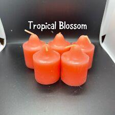 5 Tropical Blossom V0632 Partylite Nib Votives- Retired - Rare