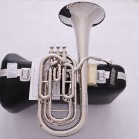 Professional JINBAO Silver nickel Bb Compensating Baritone Horn 3 Valves Piston