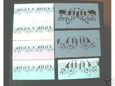 Schablonen, Wandschablonen, Dekorschablone, Malerschablone, Floral mehrfarbig