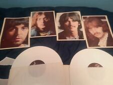THE BEATLES ORIGINAL WHITE VINYL DOUBLE LP THE WHITE ALBUM'--RARE--- WHITE VINYL