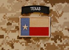 Subdued Texas State Flag / B & W  Texas Tab Set Lone State Patch Navy SEAL