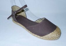 NEW! KATE WOMEN'S ESPADRILLE FLAT SHOES (BROWN, SIZE #6)