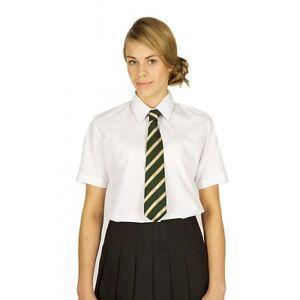 PINDERS GIRLS SHORT SLEEVE BLOUSE SHIRT TWIN PACK SCHOOL UNIFORM WHITE SKY BLUE