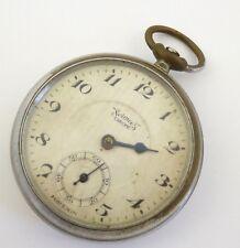 Vintage Services Chrome Pocket Watch Steam Punk Parts or Restoration