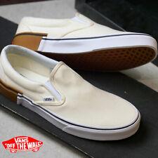 Vans Classic Slip-On Gum Block  Classic White Shoes Size Men's 11