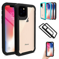 For iPhone 11 Pro Max Cyrstal Clear Bumper Back Case Dual Layer Shockproof Cover