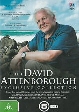 DAVID ATTENBOROUGH EXCLUSIVE COLLECTION 5-DVD Set Brand New but UNSEALED Region4