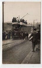 ROCHDALE CORPORATION TRAM, SHAWFORTH: Lancashire postcard (C25467)