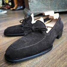 Handmade Men's Suede Loafers Shoes, Men's Black Slip On Moccasin Shoes for mens