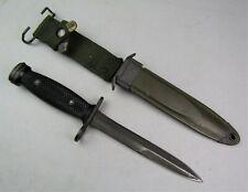 Vietnam Kw Us Army Usm4 Imperial Carbine Bayonet with Usm8A1 Scabbard