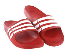 9f3977e19 Adidas Duramo Mens Slides Sandals Flip Flops Beach Wear Red Size US 13 NEW