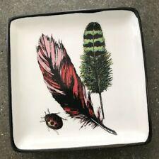 """Square Feather Ladybug Trinket Dish, World Market 4 3/8"""" x 4 3/8"""""""