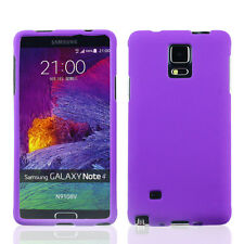 LATEST* FOR SAMSUNG Galaxy Note 4 PURPLE 2-PC RUBBERIZED SKIN SNAP-ON COVER CASE