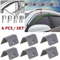 6X Wind / Rain Deflector Car Channel Metal Retaining Clips For Heko G3 Clip