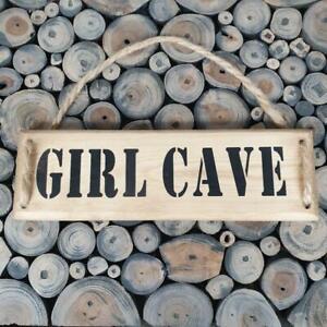 Handmade  'GIRL CAVE'' wall plaque