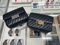 NWT Michael Kors Peyton Small Shoulder Flap Crossbody Leather Bag Black