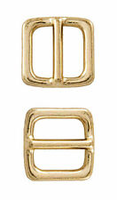 25 - 3/4 Inch Brass Plated Frame Metal Heavy Triglide Slides Closeout