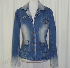 BEAUTIFUL SASS&BIDE DISTRESSED BLUE WASH DENIM JACKET AUS 10/12 US 6