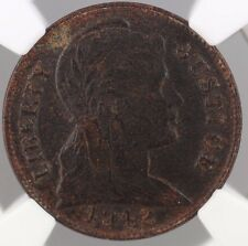 1942 1c Penny Cent US Pattern Coin J-2062 NGC MS-61 300 degree rotated die WW
