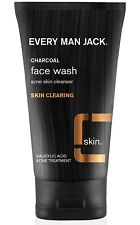 2 - EVERY MAN JACK CHARCOAL FACE WASH ACNE SKIN CLEANSER - 5.0 OZ EACH TUBE