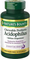 Nature's Bounty Chewable Acidophilus Probiotic 100 ea (Pack of 2)