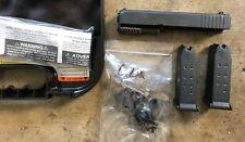 Glock 26 Gen-3 OEM Slide Barrel Upper Lower Parts Kit Case 2-Mag-azines 9-MM