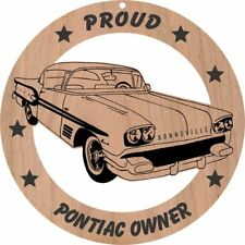 1958 Pontiac Bonneville Hardtop Wood Ornament Laser Engraved
