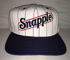 Vtg Snapple Snapback hat cap rare 90s fruit drink facts deadstock hipster og