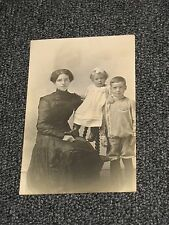 Vintage Photo Postcard Woman with Children