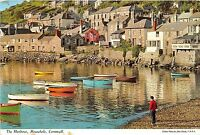 B88005 the harbour mousehole cornwall uk 14x9cm