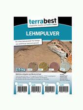 Terrabest Lehmpulver - weiß 2,5kg zum mischen von Terrariensand Naturlehm