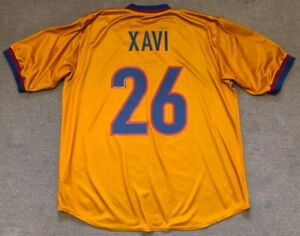 XAVI#26 FC BARCELONA 1998/2000 PLAYER ISSUE NIKE AWAY SHIRT JERSEY