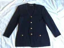 ST JOHN  Santana Knit Jacket Wool Blend Black Size 10