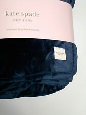 Kate Spade Over-sized King Navy Fleece Blanket 112 � x 92 � Soft and Fluffy new