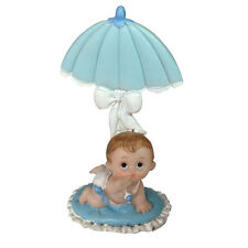"4 pcs Baby Boy Under Umbrella shower favor cake top decoration 4"" X 2.5"""