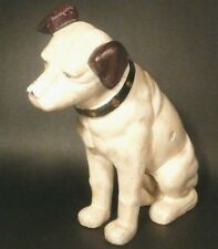 """vintage RCA VICTOR NIPPER CAST IRON BANK - 10"""" TALL in EXCELLENT CONDITION"""