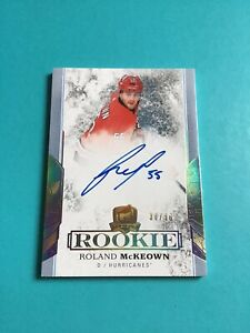 Roland McKeown 2017-18 UD The Cup Gold Rookie Auto 30/36 Carolina Hurricanes