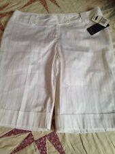 WOMAN'S STAR CITY WHITE BLACK PINSTRIPE BERMUDA SHORTS DRESS OR CASUAL NWT 11