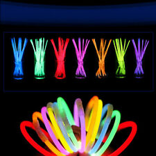 "50 Pcs 8"" Glow Stick Neon Light Up Bracelet Necklaces Mix Colors Birthday Party"