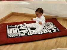 """Baby Playmat Stimulating Black & White 57""""x37"""" Cotton Outer - Perfectly Happy"""