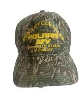 vintage camo polaris rzr atv snapback hat