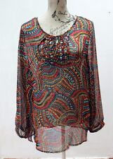 KAFTAN STYLE Top Upcycled with Crystals & Beads, Festival, Hippie, Doof  Size 16