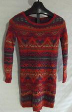 NWT Polo Ralph Lauren Linen Cotton Red Beacon Indian  Sweater Dress Size XL