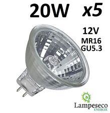 5 Ampoules Dichroique Halogène 30% Economique MR16 GU5.3 12V 20W (14W) 3000h