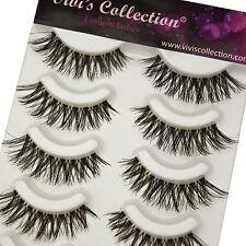 5 Pairs Natural Thick Demi Wispies False Eyelashes Fake Eye Lashes Wispy - S1