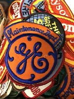 Vintage GE General Electric Maintenance Dept. Patch Iron On NEW Old Stock Props